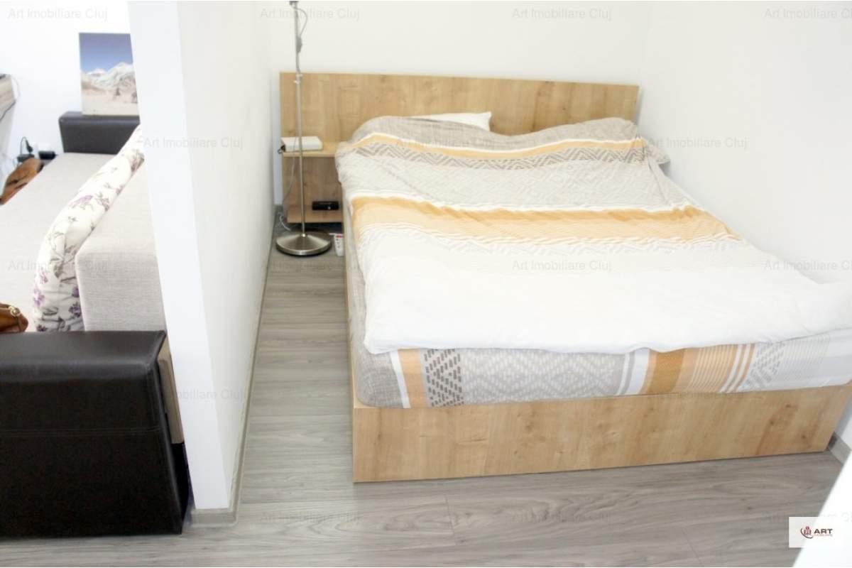 Apartament 1 camera, 40 mp, bloc nou, modern, cu garaj si terasa, in Marasti