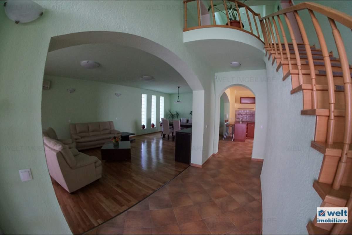Casa individuala de inchiriat, 5 camere, curte amenajata, cartier Buna Ziua!