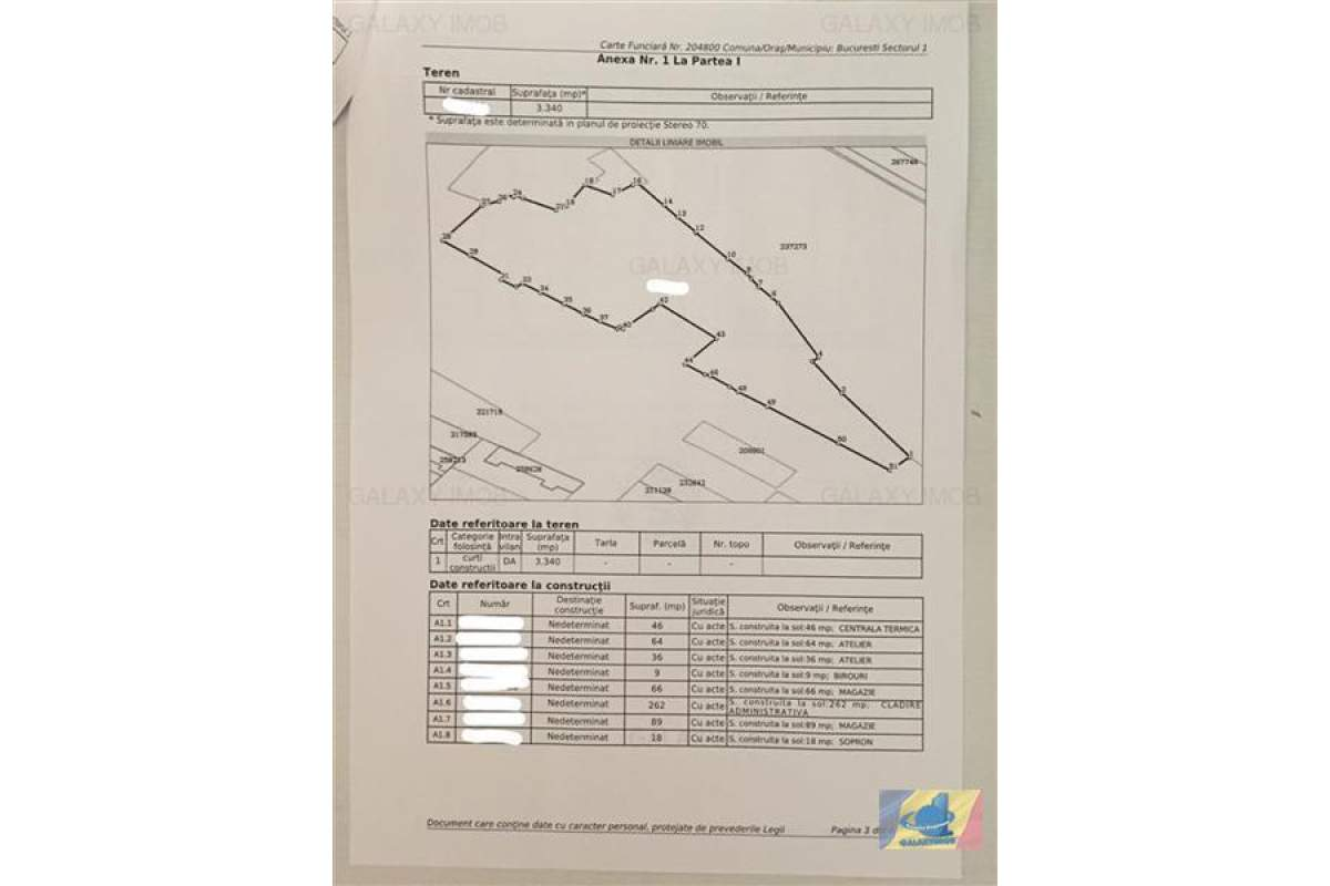 Inchiriere teren 3340 mp Giulesti Sector 1