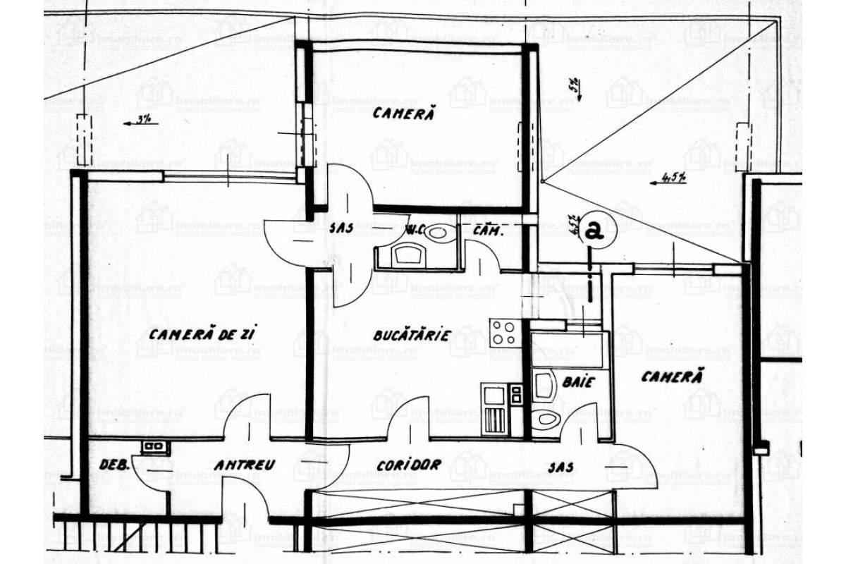 Inchiriez apartament spatios cu 3 camere zona 7 Noiembrie (Unic) UMF